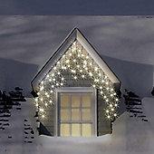 500 Warm White LED Icicle Chasing Christmas Lights