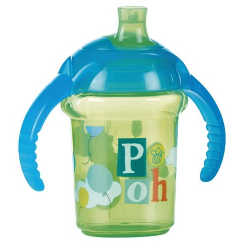 Winnie The Pooh Blue Click Lock Trainer Cup