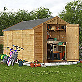 BillyOh Keeper Overlap Apex Wooden Garden Shed - 12 x 8 Windowless