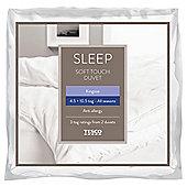 Tesco Soft Touch Anti Allergy Duvet 4.5/10/5 Tog All Seasons Duvets King