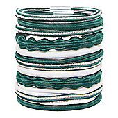 Mothercare Young Girls Green Hair Ties - Multi Pack