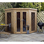 7ft x 7ft Premier Tongue & Groove Corner Summerhouse 7 x 7 Garden Wooden Summerhouse