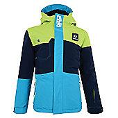 Dare 2b Furor Kids Ski Jacket - Lime/Airforce Blue - Blue