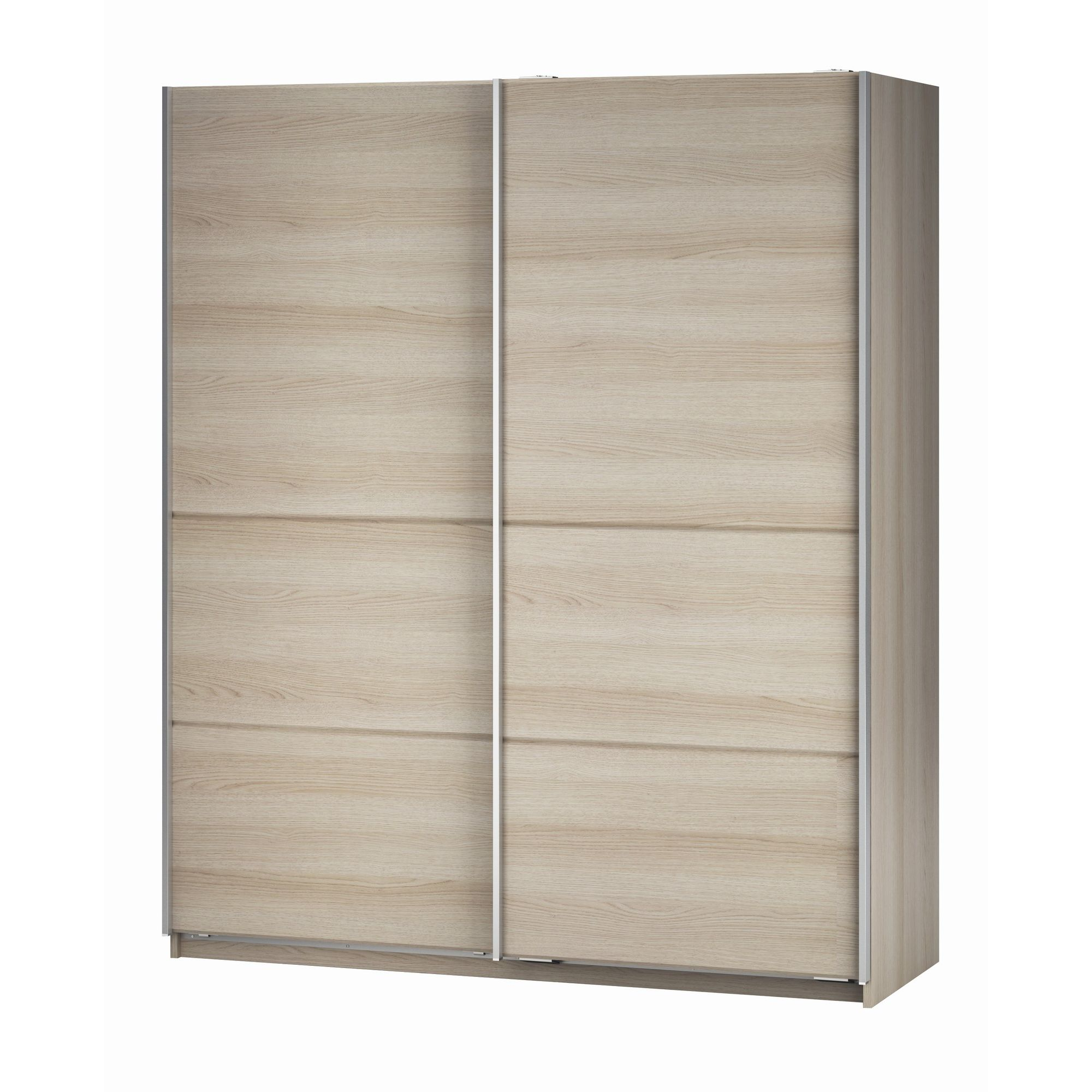 Altruna Elmont Plain Slider Wardrobe in Light Oak Veneer at Tesco Direct