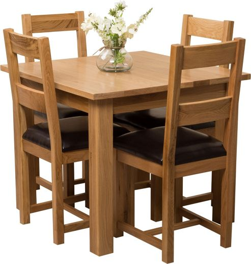 Buy Oslo Solid Oak Square 90 cm Dining Table with 4  : 289 2635PI1000499MNwid493ampht538 from www.tesco.com size 493 x 517 jpeg 37kB