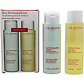Clarins Cleansing and Toning Duo Pack - Dry/Normal Skin 2 x 200ml
