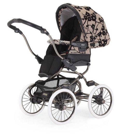Bebecar Stylo Class Combination Pushchair, Class Fleur Noir