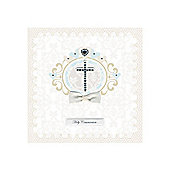 Diamante Cross Holy Communion Card