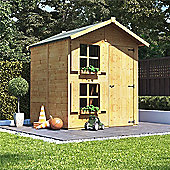 Mad Dash Peardrop Junior Wooden Playhouse with Internal Bunk, 6ft x 5ft