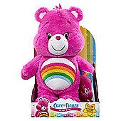 Care Bears Medium Soft Toy with DVD -Cheer Bear
