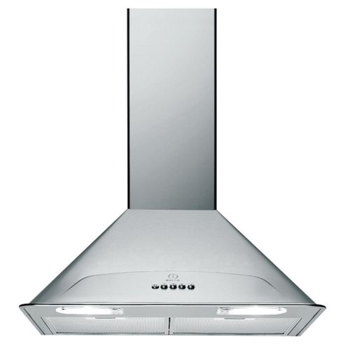 Indesit H563LIX 60cm Chimney Hood Stainless Steel
