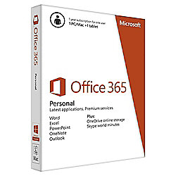 Microsoft Office 365 Personal - 1 year subscription for 1 PC/Mac + 1 tablet