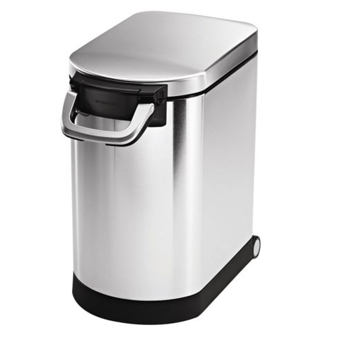simplehuman 25 Litres Pet Food Storage Bin in Brushed Stainless Steel
