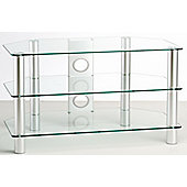 ValuFurniture Classik 800 Clear Glass TV Stand