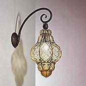 Siru Vecchia Murano One Light Wall Bracket - Crystal Baloton - 48cm H X 23cm W X 28cm D