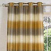 Julian Charles Soho Gold Luxury Jacquard Eyelet Curtain -168x137cm