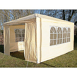 AirWave Party Tent Marquee Fully Waterproof With WindBar - 4x3m in Beige