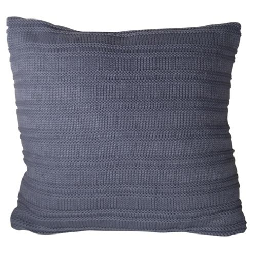 buy knitted cushion blue from our cushions range tesco. Black Bedroom Furniture Sets. Home Design Ideas