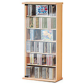 VCM Vetro CD / DVD Storage Tower - Beech