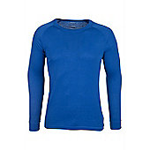 Talus Mens Long Sleeved Round Neck Top - Electric blue