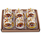 Set of 6 Christmas Gingerbread House Shaped Tea Light Candles