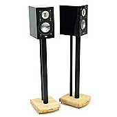 MOSECO 7 Black and Bamboo Speaker Stands