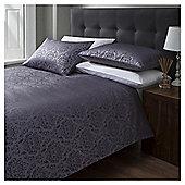 Cotton Rich Mulberry Jacquard Duvet Set - Purple