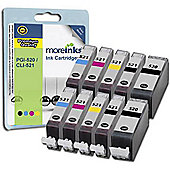 Morelnks 10 Compatible Ink Cartridges for Canon Pixma MP550 - Cyan / Yellow / Magenta / Black