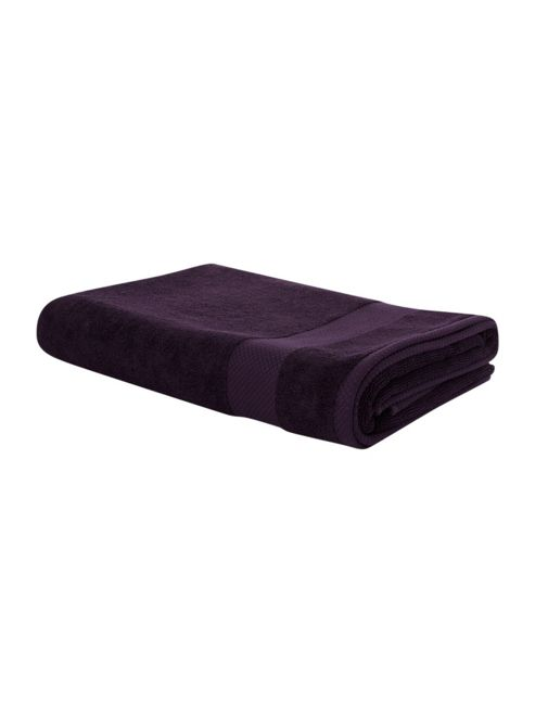 Linea Egyptian Cotton Hand Towels In Purple