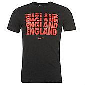 2014-15 England Nike Core Type Tee (Black) - Black