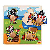 Bigjigs Toys My First Peg Puzzle Pirate