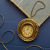 Gold Clock Christmas Decoration