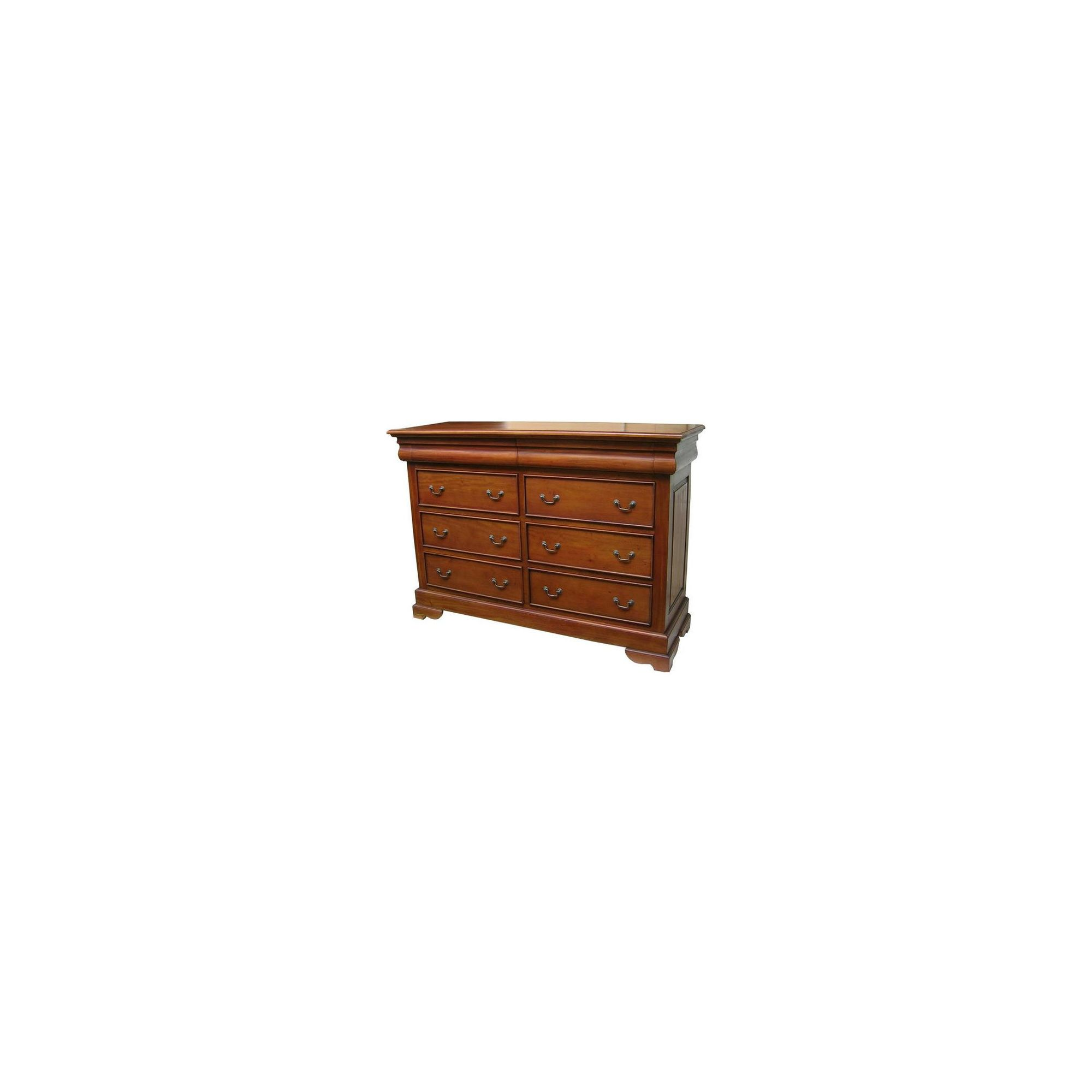 Lock stock and barrel Mahogany 8 Drawer Sleigh Chest in Mahogany - Wax at Tesco Direct