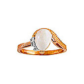 QP Jewellers Diamond & Opal Belle Diamond Ring in 14K Rose Gold