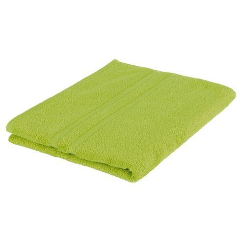 Tesco 100% Combed Cotton Bath Towel Lime