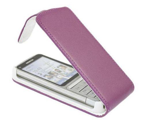 Purple FlipMatic Easy Clip On Vertical Pouch Case - Nokia C3-01
