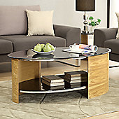 Jual Curve Oval Coffee Table - Oak