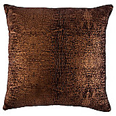 Gold foil cushion brown