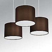 Torbery Set of Three Ceiling Pendant Light Shades in Chocolate Brown