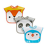 Mothercare Animal Face Bibs - 3 Pack