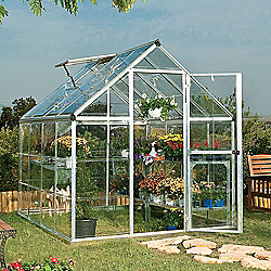 Palram Harmony 6x8 -Silver Greenhouse - Polycarbonate and Aluminium Frame