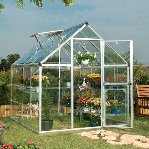 Palram HARMONY 6x8 - SILVER Greenhouse - Polycarbonate and Aluminium Frame
