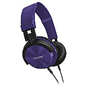 Philips SHL3000PP  On Ear Headphones Purple