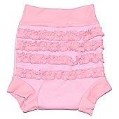 Splash About Happy Nappy Pink Frills - Pink