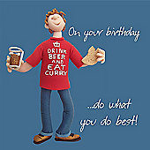 Holy Mackerel Birthday do what you do best Greetings Card