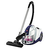 Bissell Power Clean Compact Cylinder Vacuum Purple  White