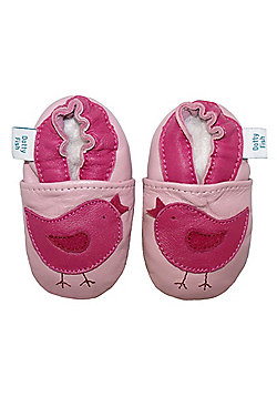 Dotty Fish Soft Leather Baby Shoe - Pink Early Bird - Pink