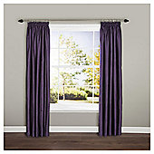"Ripple Lined Pencil Pleat Curtains W117xL137cm (46x54"") - - Plum"
