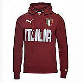 2014-15 Italy Puma FIGC Hooded Top (Red) - Red