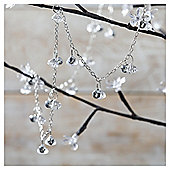 Weiste Silver Crystal and Bell Christmas Chain